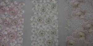 刺繍衿、豪華な桜の花尽くし!